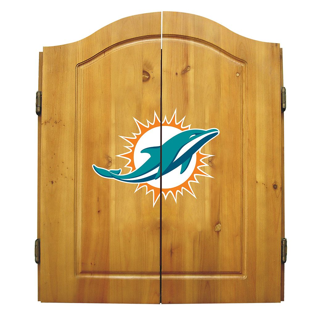 Miami Dolphins Dartboard Cabinet