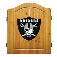 Oakland Raiders Dartboard Cabinet
