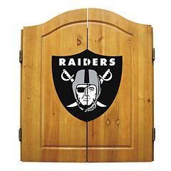 Oakland Raiders Dartboard Cabinet