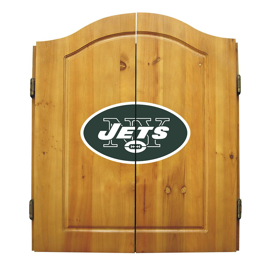 New York Jets Dartboard Cabinet