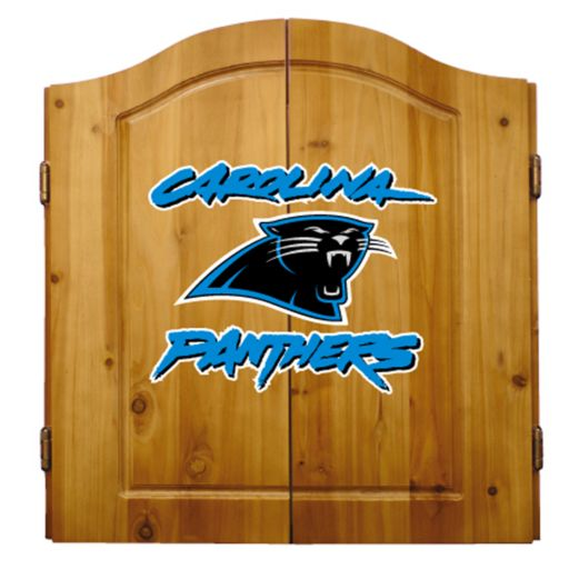 Carolina Panthers Dartboard Cabinet