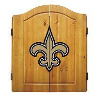 New Orleans Saints Dartboard Cabinet