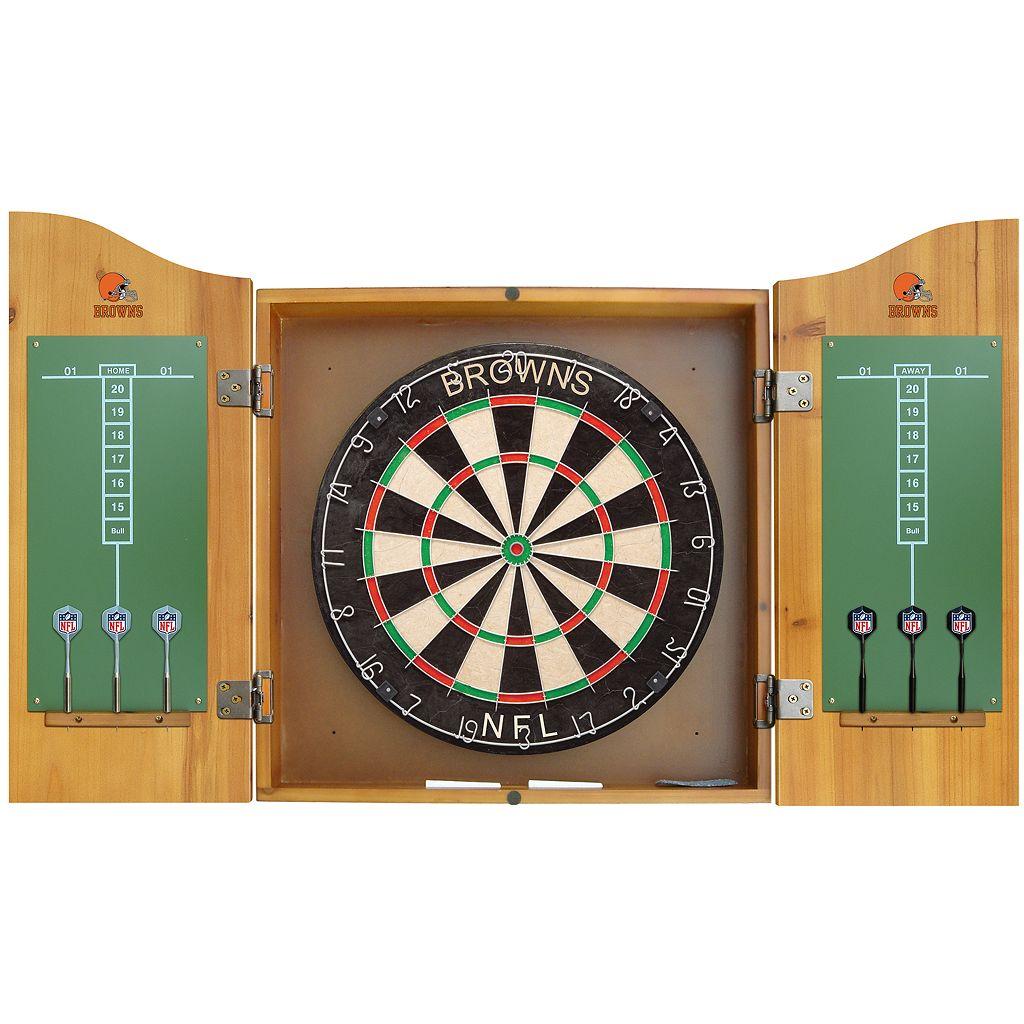 Cleveland Browns Dartboard Cabinet