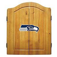 Seattle Seahawks Dartboard Cabinet