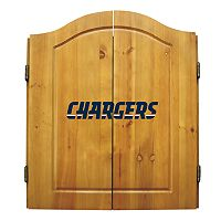 San Diego Chargers Dartboard Cabinet