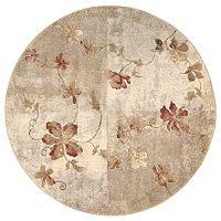 Nourison Somerset Floral Rug - 5'6'' Round
