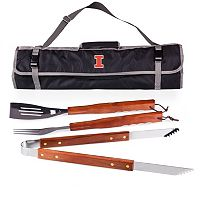 Illinois Fighting Illini 4 pc Barbecue Tote Set