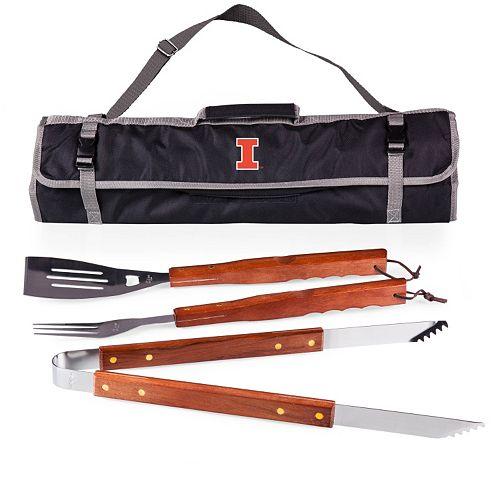 Illinois Fighting Illini 4-pc. Barbecue Tote Set