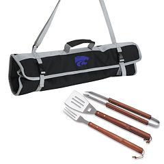 Kansas State Wildcats 4 pc Barbecue Tote Set
