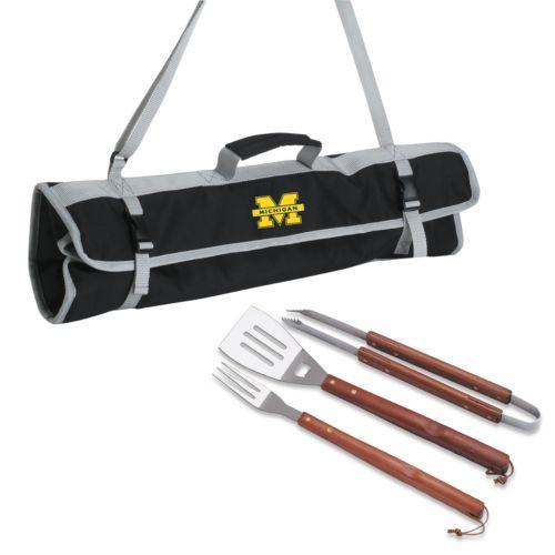 Michigan Wolverines 4-pc. Barbecue Tote Set