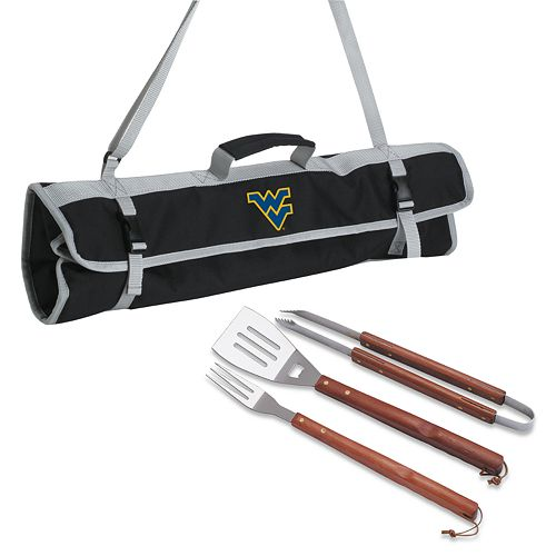 West Virginia Mountaineers 4-pc. Barbecue Tote Set