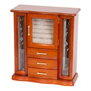 Mele & Co Walnut Jewelry Armoire