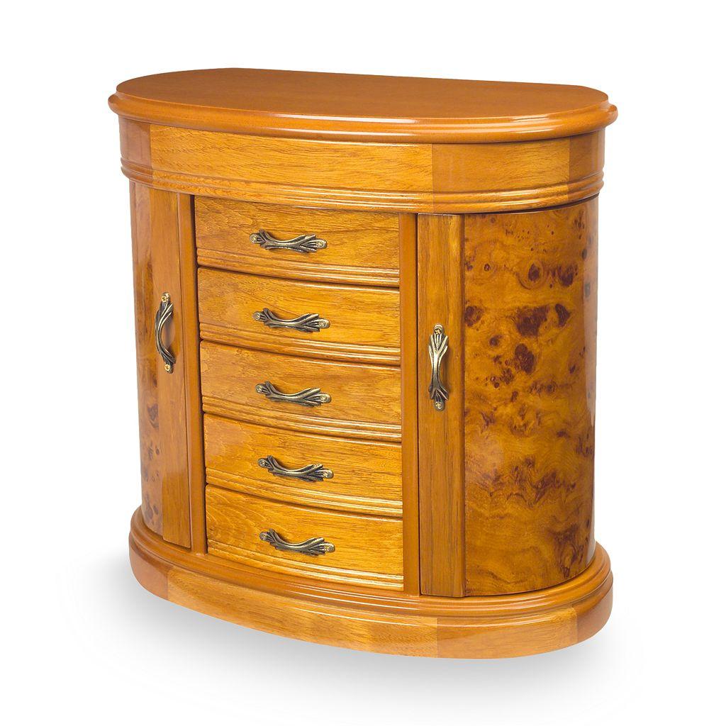 Mele & Co. Oak Jewelry Box