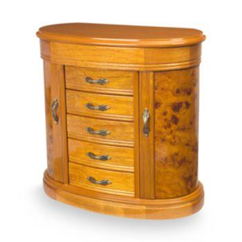 Mele & Co Oak Jewelry Box