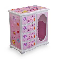 Mele & Co. Floral Musical Jewelry Box