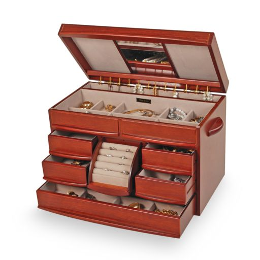 Mele & Co Walnut Jewelry Box