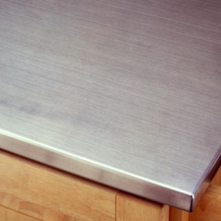 Stainless Steel-Top Kitchen Cart