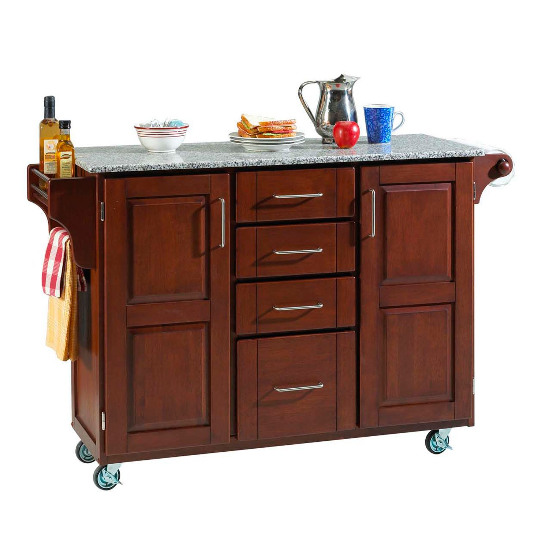 Granite Top Kitchen Cart