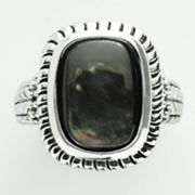 Silver Tone Shell-Composite Ring