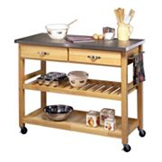 Steel-Top Kitchen Cart