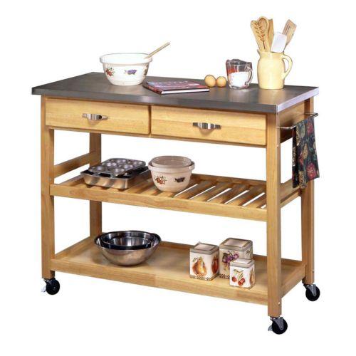 Steel-Top Kitchen Cart