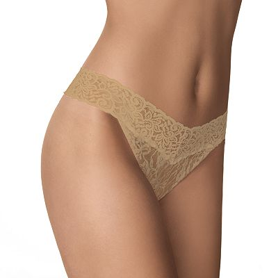Maidenform One-Size Lace Thong - 40118