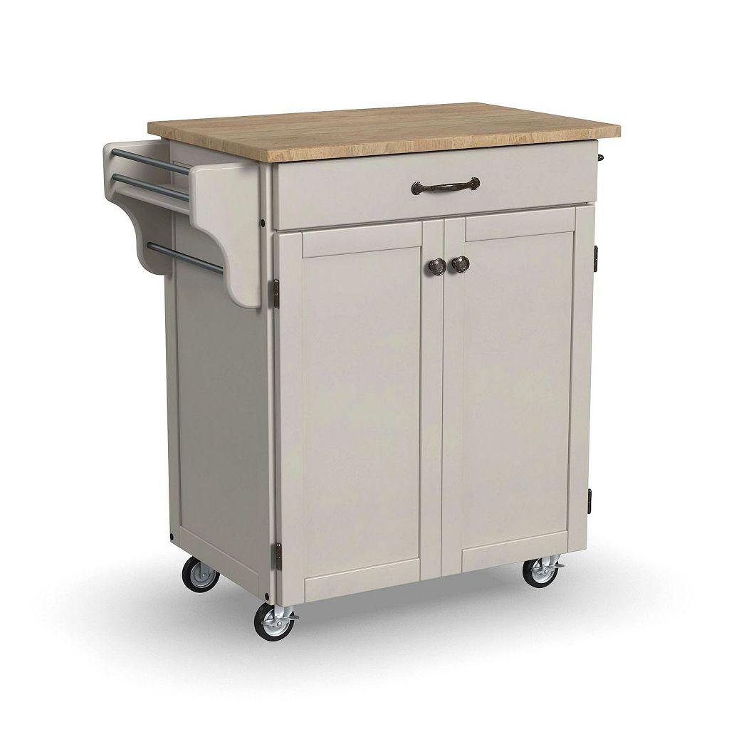 Wood-Top Cuisine Kitchen Cart
