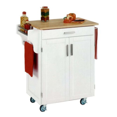 Wood-Top Cuisine Kitchen Cart