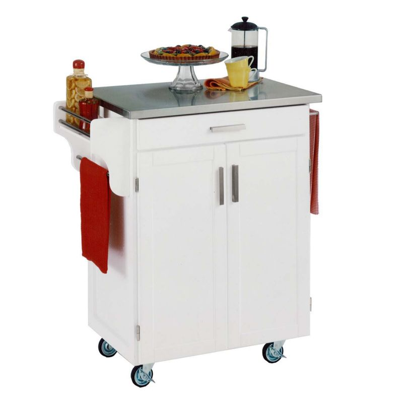 095385065232 Upc Kitchen Cart With Wood Top Finish