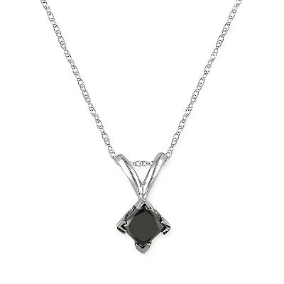 10k White Gold 1/2-ct. T.W. Black Diamond Pendant