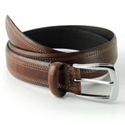 Dockers Stitched Feather-Edge Leather Belt