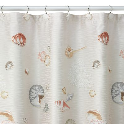 Bacova Captiva Shell Fabric Shower Curtain