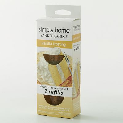 Yankee Candle simply home Vanilla Frosting 2-pk. Electric Home Fragrancer Refills