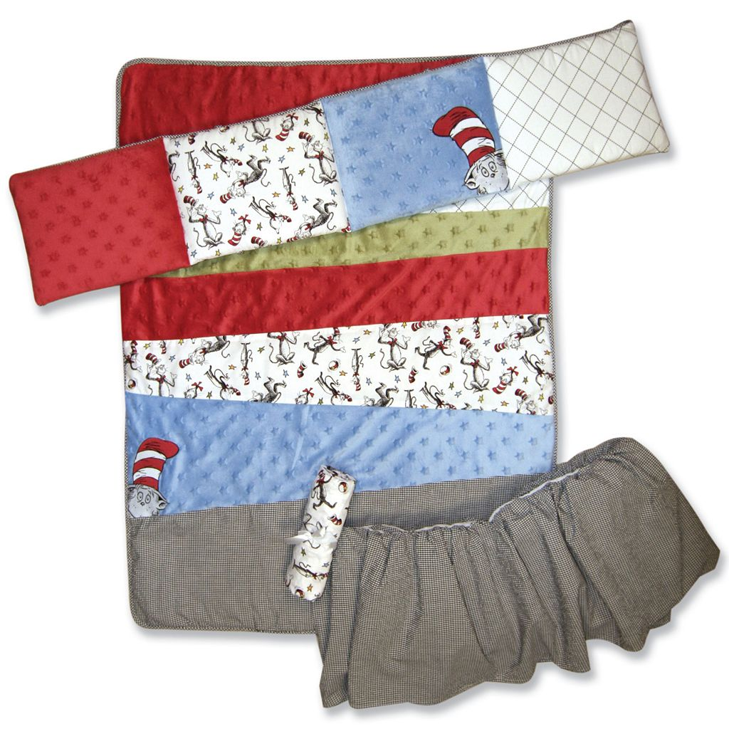 Trend Lab Dr. Seuss The Cat in the Hat Crib Bedding Set