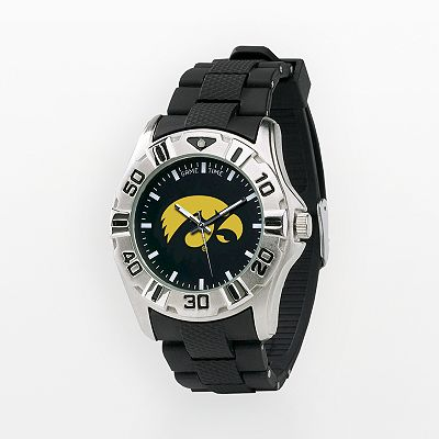 Iowa Hawkeyes Silver Tone MVP Watch - Men