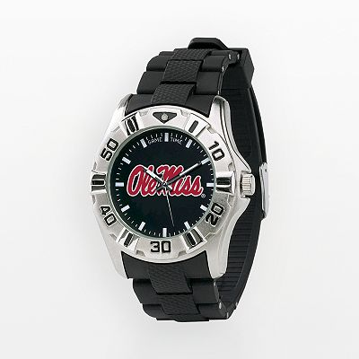 Game Time Ole Miss Rebels Silver-Tone MVP Watch - Men