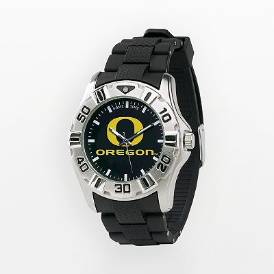 Game Time Oregon Ducks Silver-Tone MVP Watch - Men