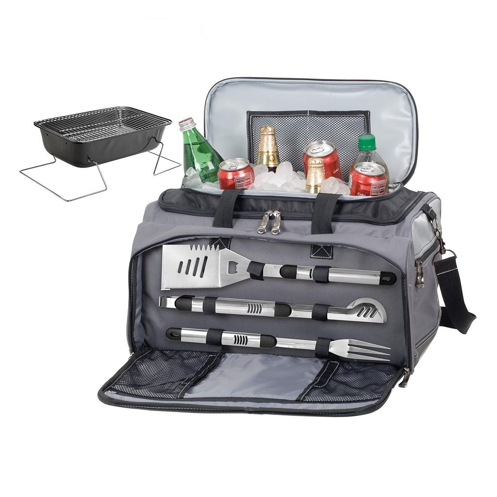 UConn Huskies 6-pc. Charcoal Grill & Cooler Set