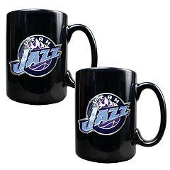 Utah Jazz 2 pc Ceramic Mug Set