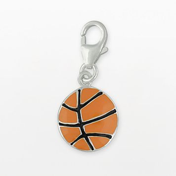 Personal Charm Sterling Silver Basketball Charm