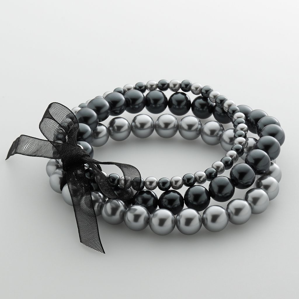 Simulated PearlStretch Bracelet