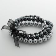 Croft and Barrow Simulated Pearl Stretch Bracelet