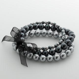 Simulated Pearl Stretch Bracelet