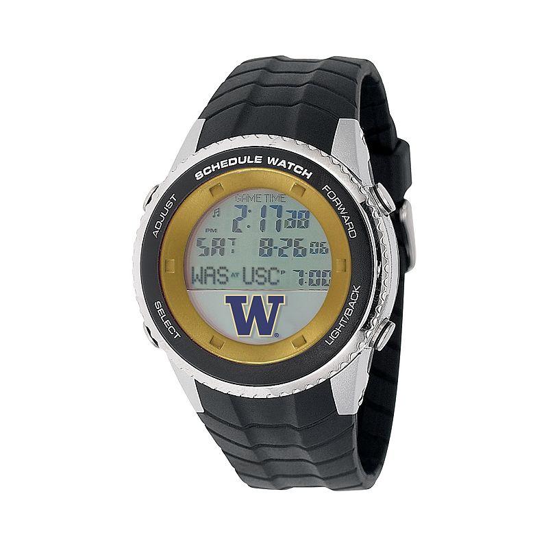 Game Time Washington Huskies Stainless Steel Digital Schedule Watch - Men