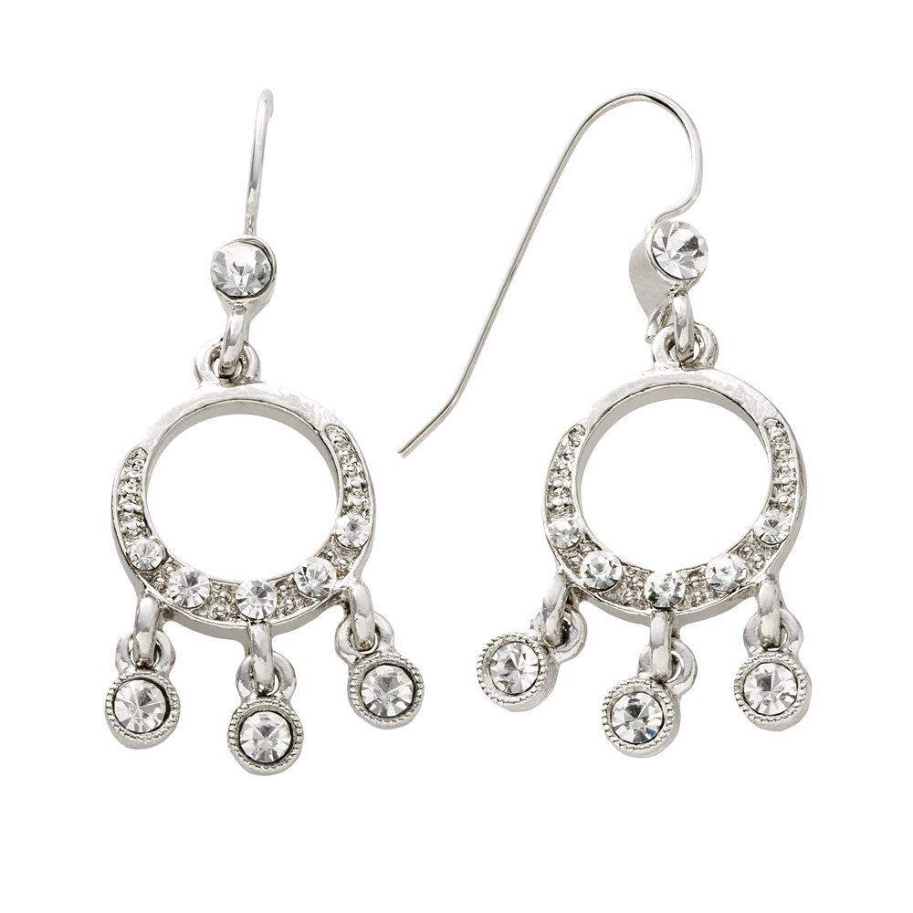 1928® Silver-Tone Simulated Crystal Drop Earrings