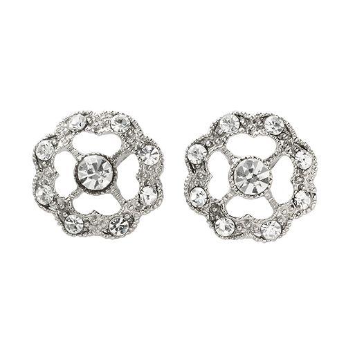1928® Silver-Tone Simulated Crystal Stud Earrings