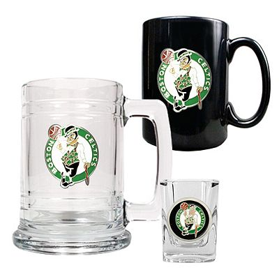 Boston Celtics 3-pc. Mug and Shot Glass Set