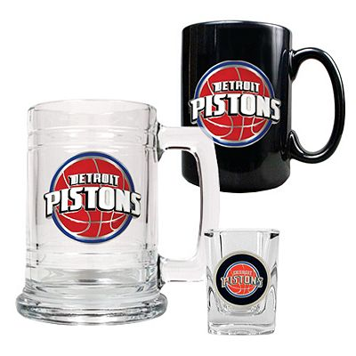 Detroit Pistons 3-pc. Mug and Shot Glass Set