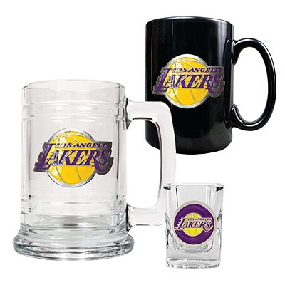 Los Angeles Lakers 3-pc. Mug and Shot Glass Set