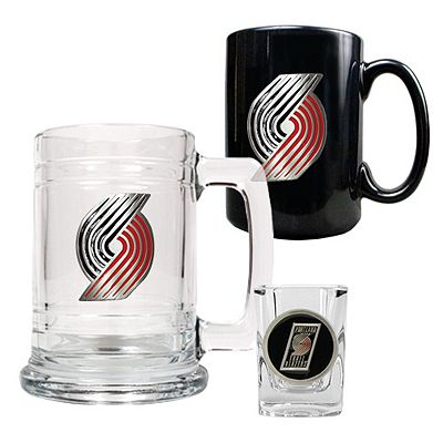 Portland Trail Blazers 3-pc. Mug and Shot Glass Set